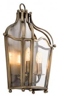 Casa Padrino Wandleuchte Antik Messing 31, 5 x 15 x H. 47 cm - Luxus Wohnzimmer Wandlampe