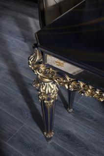 Casa Padrino Luxus Barock Couchtisch Blau / Gold / Schwarz 131 x 85 x H. 45 cm - Wohnzimmertisch im Barockstil - Vorschau 4