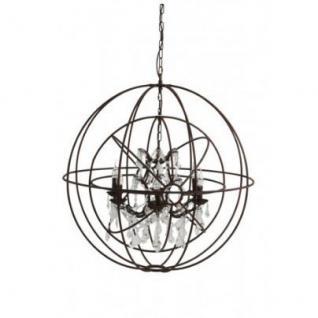 Casa Padrino Hängeleuchte Deckenleuchte Braun Industrial Design Durchmesser 91 x H 97 cm - Industrie Lampe Leuchte Industrieleuchte