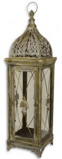 Casa Padrino Barock Zinn Laterne Antik Messing 24, 4 x 23, 2 x H. 84 cm - Deko Kerzenleuchter im Barockstil
