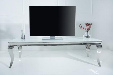 Barock Tisch 160cm weiss silber - Fernsehtisch