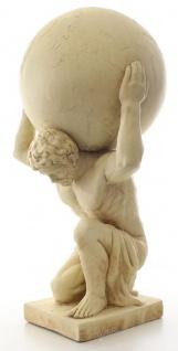 Casa Padrino Deko Skulptur Atlas trägt Weltkugel Beige 34 x 38, 3 x H. 68, 6 cm - Kunstharz Figur - Deko Figur - Vorschau 2