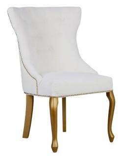 Casa Padrino Luxus Esszimmer Stuhl Barock mit Metall Rückenring - Luxus Qualität - ALLE FARBEN - Neo Classic Vintage Style Hotel Stuhl - Möbel