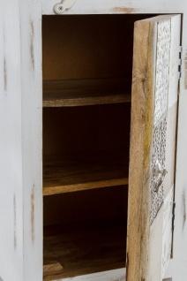 Casa Padrino Landhausstil Shabby Chic Kommode Antik Weiß / Mehrfarbig 40 x 32 x H. 70 cm - Kleiner Landhausstil Schrank mit Tür - Vorschau 5