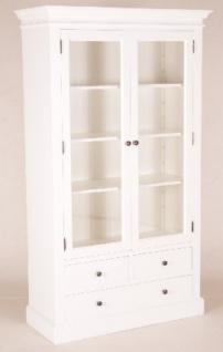 Casa Padrino Shabby Chic Landhaus Stil Schrank Buffetschrank Weiß B 110 x H 190 cm - Schrank Esszimmer