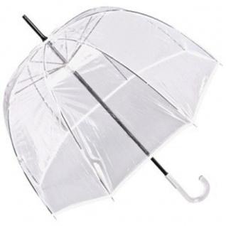 Jean Paul Gaultier Luxus Designer Damen Regenschirm Transparent Look mit weißem Rand - Luxury White Edition