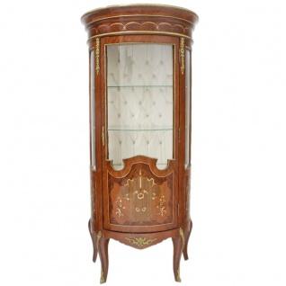 Casa Padrino Barock Glas Vitrine Vitrinenschrank 80 x H 175 cm - Barock Möbel - Vitrinenschrank - Wohnzimmerschrank Schrank Mahagoni