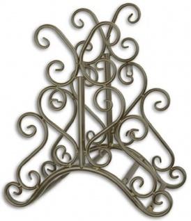 Casa Padrino Jugendstil Gartenschlauch Wandhalter Braun 31, 6 x H. 34, 5 cm - Nostalgische Metall Schlauch Wandhalterung - Barock & Jugendstil Garten Accessoires - Vorschau
