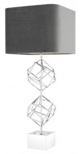 Casa Padrino Luxus Tischleuchte Silber / Grau 40 x H. 98 cm - Designer Tischlampe - Vorschau 4