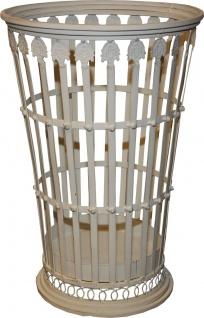Casa Padrino Barock Stil Schirmständer in Antik Weiss Höhe: 52 cm, Durchmesser 34 cm