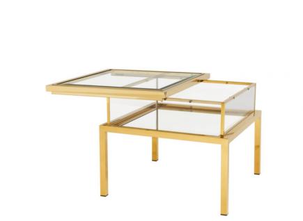 Casa Padrino Luxus Art Deco Designer Beistelltisch Gold 65 x 65 x H. 55, 5 cm - Luxus Kollektion