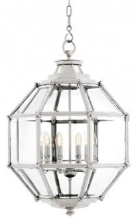 Casa Padrino Luxus Laterne - Luxus Nickel Hängeleuchte Durchmesser 60 x H 85 cm