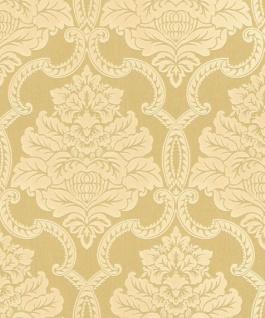 Casa Padrino Barock Textiltapete Gold / Creme 10, 05 x 0, 53 m - Barock Tapete - Deko Accessoires