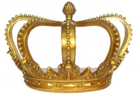 Casa Padrino Barock Deko Krone Gold 55 x 33 x H. 38 cm - Deko Accessoires im Barockstil