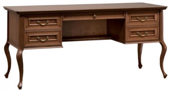 Casa Padrino Luxus Jugendstil Schreibtisch Braun 163, 3 x 68, 4 x H. 75, 6 cm - Barock & Jugendstil Büromöbel