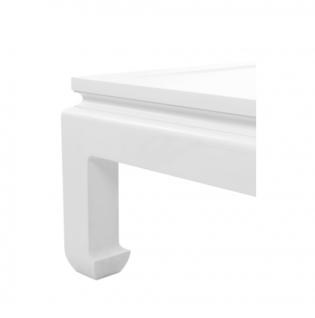 Casa Padrino Luxus Art Deco Designer Mahagoni Couchtisch Weiß - Wohnzimmer Salon Tisch - Luxus Kollektion - Vorschau 3