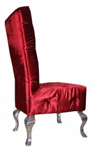 Casa Padrino Barock Esszimmer Stuhl Bordeaux / Silber - Designer Stuhl - Luxus Qualität Hochlehnstuhl Hochlehner - Vorschau 3