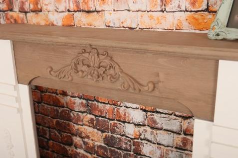 Casa Padrino Landhausstil Kaminumrandung Antik Weiß / Braun 110 x 22 x H. 98 cm - Shabby Chic Möbel - Vorschau 5