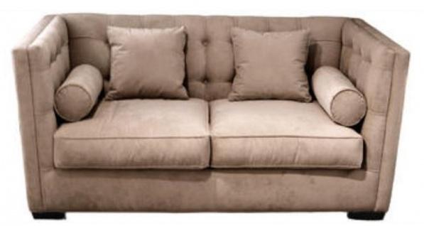 Casa Padrino Luxus Chesterfield Wohnzimmersofa Taupe 180 x 100 x H. 85 cm - Couch / Schlafcouch mit 4 Kissen
