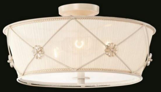 Casa Padrino Barock Decken Kronleuchter Weiß Gold 45 x H 23 cm Antik Stil - Möbel Lüster Leuchter Deckenleuchte Hängelampe