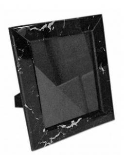 Casa Padrino Luxus Marmor Bilderrahmen Schwarz 13 x 4 x H. 18 cm - Deko Accessoires