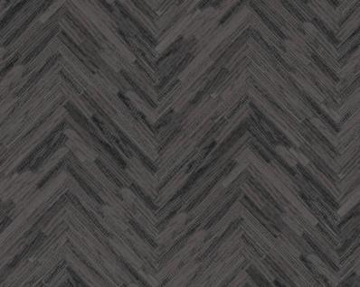 Versace Designer Barock Vliestapete IV 37051-4 Grau / Schwarz - Tapete mit Holzstruktur - Hochwertige Qualität