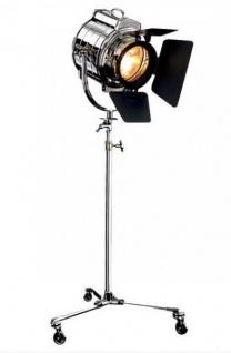 Luxus Studioleuchte Vintage Lampe Stehleuchte Chrom - Nickel Finish - Luxus Qualität - Film Set Leuchte