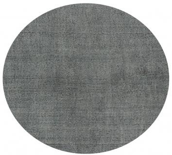 Casa Padrino Luxus Wohnzimmer Teppich Grau Ø 280 cm - Runder Viskose Teppich - Luxus Qualität - Wohnzimmer Deko Accessoires
