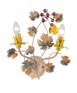 Casa Padrino Barock Wandleuchte Blumen - italienisches Design - Wandlüster Wand Leuchte Antik Stil
