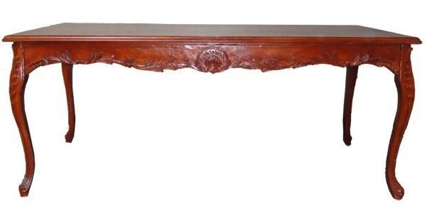 Casa Padrino Barock Esstisch Braun (Mahagonifarben) 140 cm - Barock Tisch Antik Stil Möbel