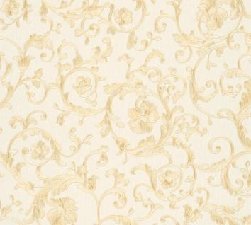 Versace Designer Barock Vliestapete Butterfly Barocco 343261 Creme / Gold - Design Tapete - Luxus Tapete
