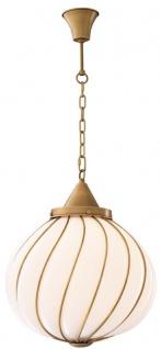 Casa Padrino Luxus Kronleuchter Antik Messingfarben / Weiß Ø 43 x H. 50 cm - Luxus Kollektion - Vorschau 3