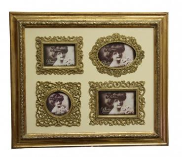 Barock Wandbilderrahmen Gold Mod KL17 Family Frame H 50 cm, Breite 58 cm - Bilder Rahmen Foto Rahmen Jugendstil Antik