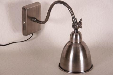 Casa Padrino Industrial Design Wandleuchte - Vintage Look - Wand Leseleuchte - Leuchte Lampe