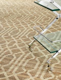 Casa Padrino Luxus Wohnzimmerteppich Naturfarben 300 x 400 cm - Luxus Jute Teppich - Vorschau