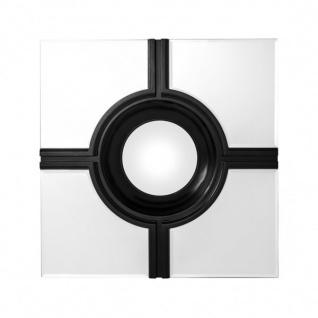 Casa Padrino Luxus Wand Spiegel Art Deco Schwarz / Spiegelglas 61 x 61 cm - Wandspiegel