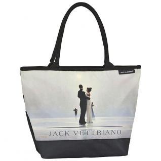 """Designer Shoppertasche mit dem Motiv des schottischen Künstlers Jack Vettriano """" Tanz mit mir"""" - Elegante Tasche - Luxus Design"""