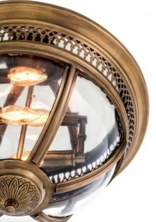 Casa Padrino Luxus Deckenleuchte Antik Messing Durchmesser 45 x H 30 cm Antik Stil - Möbel Lüster Deckenlampe - Vorschau 4