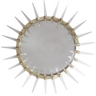 Casa Padrino Luxus Art - Deco Spiegel Gold Ø 80 cm - Wandspiegel - Wohnzimmer Dekoration