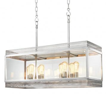 Casa Padrino Luxus Kronleuchter Silber 100 x 38 x H. 84 cm - Hotel Restaurant Möbel