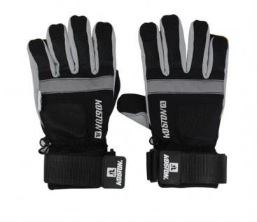 Koston Slide Handschuhe Longboard Gloves Schwarz / Silber - Skateboard Handschuhe - Slidegloves Slider Glove Set mit Security Reflector System
