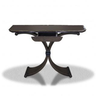 Casa Padrino Beistelltisch mit Schublade Schwarz 100 x 35 x H. 85 cm - Luxus Beistelltisch