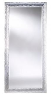 Casa Padrino Luxus Wohnzimmer Spiegel Silber 87 x H. 187 cm - Designermöbel