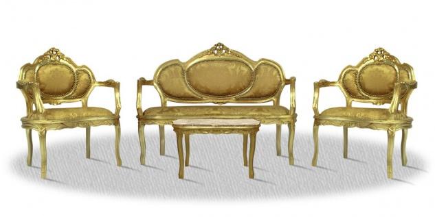 Casa Padrino Barock Salon Set Gold - Luxus Kollektion