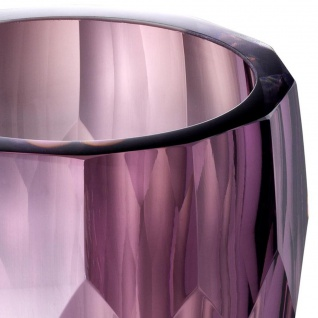 Casa Padrino Luxus Deko Glas Vase Lila Ø 12 x H. 14 cm - Luxus Qualität - Vorschau 3