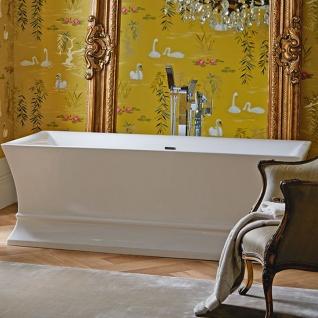 Casa Padrino Luxus Badewanne Freistehend Weiß Eckig 1695 mm - freistehende Retro Antik Badewanne - Barock & Jugendstil Badezimmer Möbel