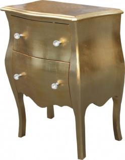 Casa Padrino Barock Kommode Gold, Antik Look H 78 cm, B 62 cm, T 36 cm - Vorschau 2