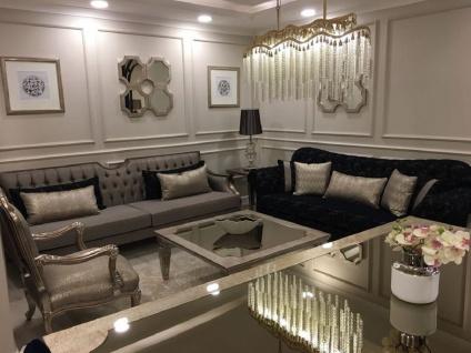 Casa Padrino Luxus Barock Sessel Silber / Antik Silber - Prunkvoller Wohnzimmer Sessel - Barock Wohnzimmer Möbel - Edel & Prunkvoll - Vorschau 3