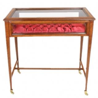 Casa Padrino Barock Vitrinen Schaukasten Tisch mit aufklappbarem Deckel 80 x50 x H80 cm - Beistelltisch