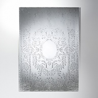 Casa Padrino Art Deco Vintage Wandspiegel Antik Stil Silber 101 x 142 cm - versilbertes Glas - Kunstspiegel